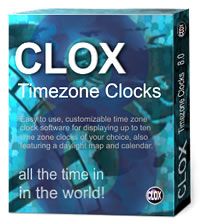 CLOX world time zone clocks software